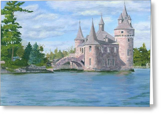 Greeting Card featuring the painting Boldt's Power House by Lynne Reichhart