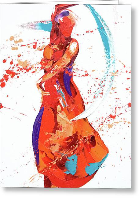 Bolero Greeting Card by Penny Warden
