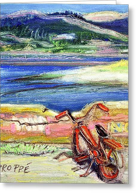 Bolinas Bike Greeting Card by Colleen Proppe