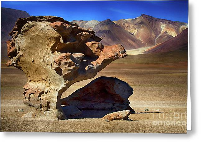 Unusual Rock Formation Bolivia  Greeting Card