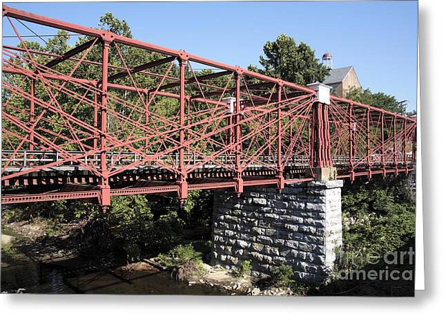 Bollman Truss Bridge At Savage In Maryland Greeting Card