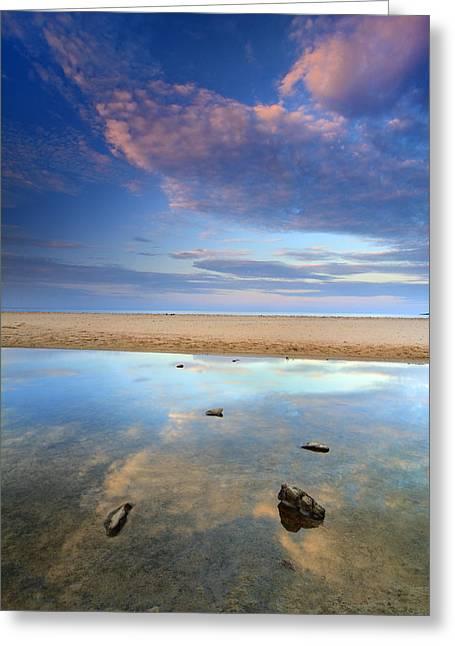 Bolonia Beach Greeting Card by Guido Montanes Castillo