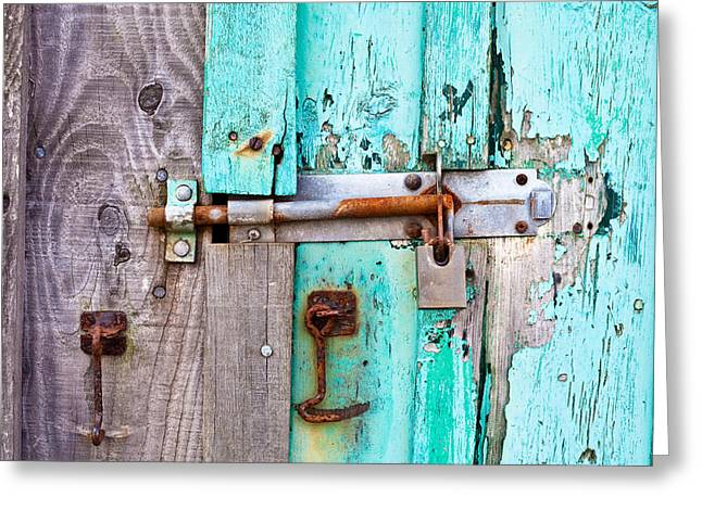 Bolted Door Greeting Card by Tom Gowanlock
