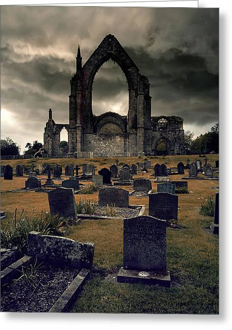 Bolton Abbey In The Stormy Weather Greeting Card by Jaroslaw Blaminsky