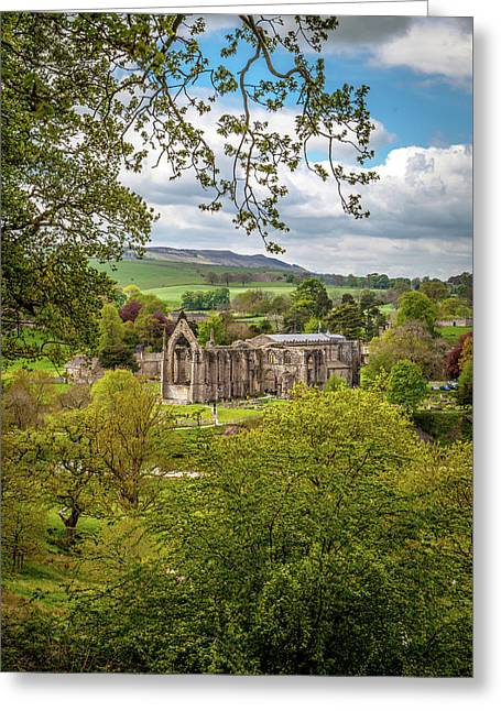 Bolton Priory In Springtime Greeting Card