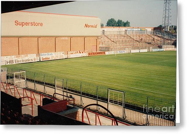 Bolton Wanderers - Burnden Park - North Stand Town End 1 - August 1991 Greeting Card