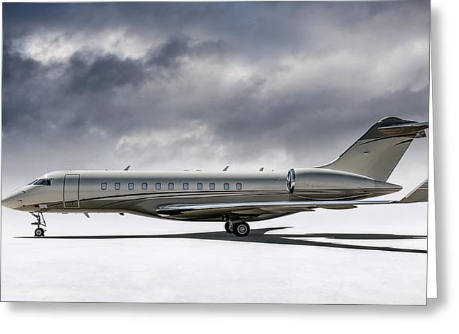 Bombardier Global 5000 Greeting Card by Douglas Pittman