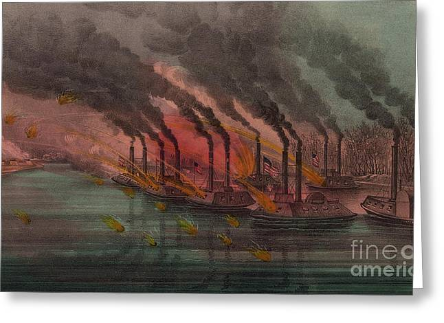 Bombardment And Capture Of Fort Henry, Tennessee Greeting Card