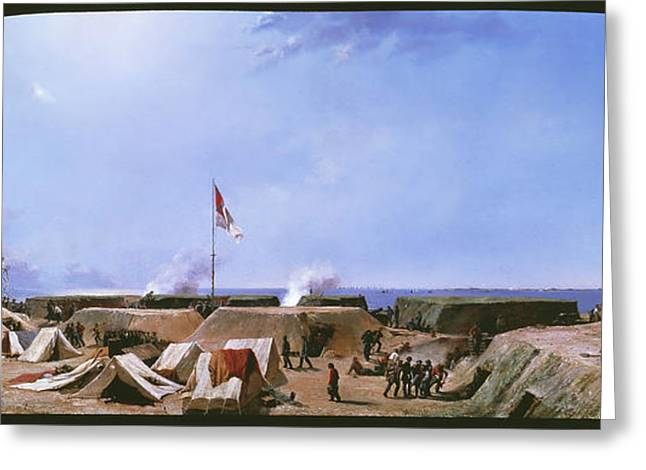 Bombardment Of Fort Moultrie - Charleston Harbor South Carolina Greeting Card by Conrad Chapman