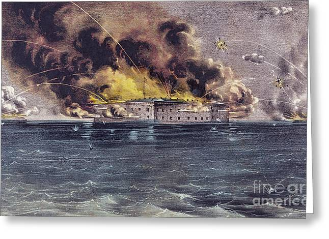 Bombardment Of Fort Sumter, Charleston Harbor, Signaled The Start Of The American Civil War Greeting Card