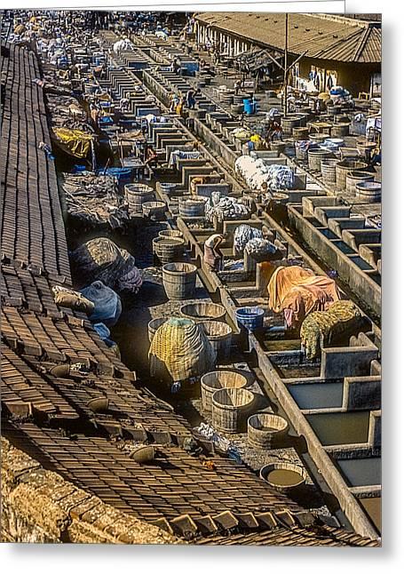Bombay Laundry Greeting Card by Steve Harrington