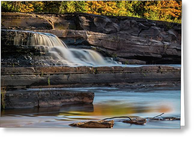 Bonanza Falls - Big Iron River, Silver City, Mi Greeting Card