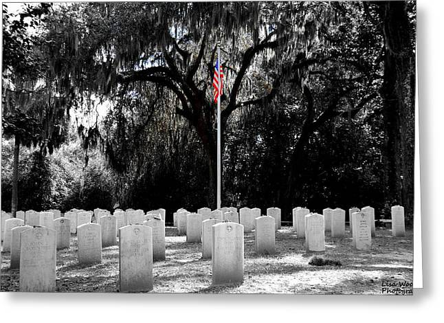 Bonaventure World War 2 Cemetery Greeting Card by Lisa Wooten