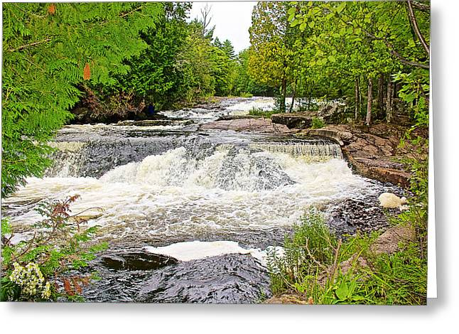 Greeting Card featuring the photograph Bond Falls Flowage In Upper Peninsula-michigan  by Ruth Hager
