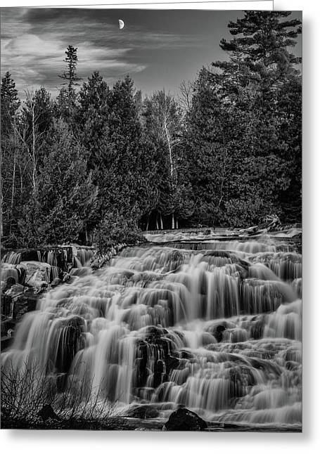 Bond Falls II Bw Greeting Card