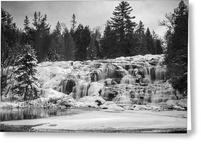 Bond Falls In Black And White Greeting Card