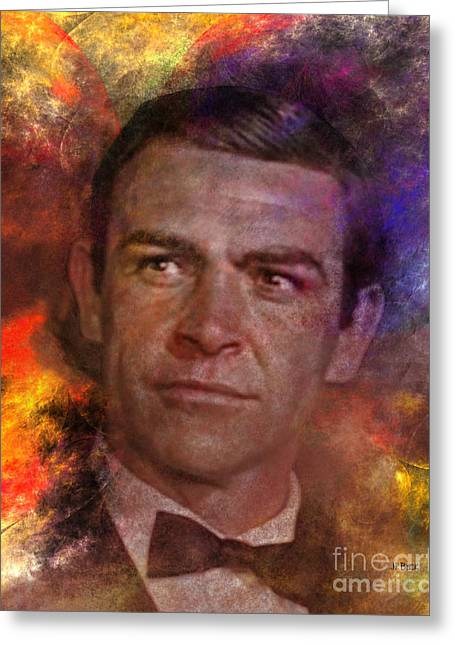Bond - James Bond Greeting Card by John Robert Beck