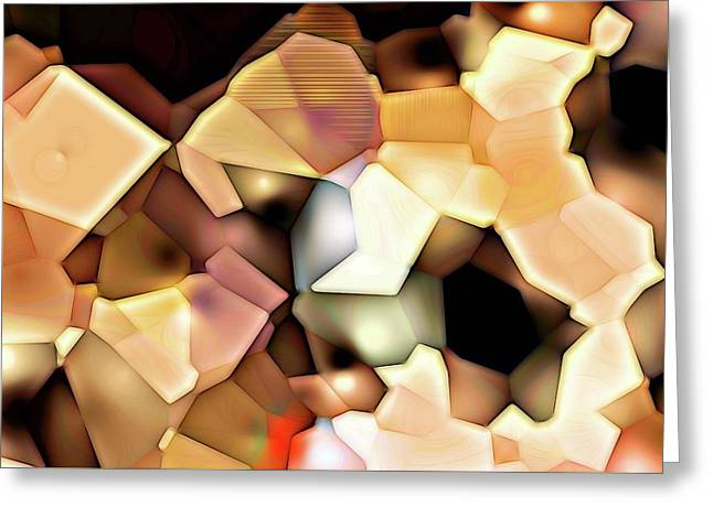 Greeting Card featuring the digital art Bonded Shapes by Ron Bissett