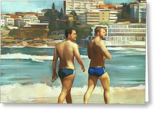 Bondi Beach Boys Greeting Card