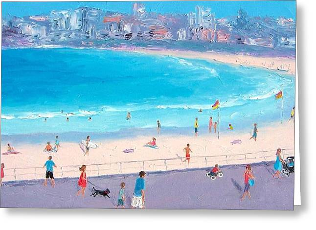 Bondi In December Greeting Card by Jan Matson