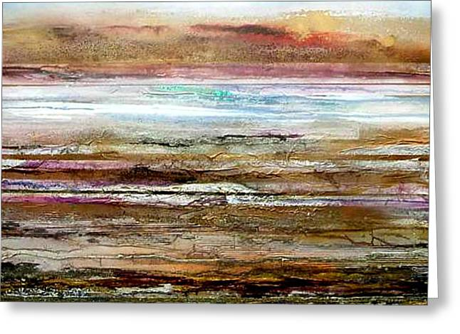 Bondicar Rocks Low Tide No1 Greeting Card by Mike   Bell