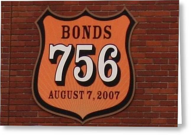 Bonds 756 Greeting Card by Karthik Thyagarajan