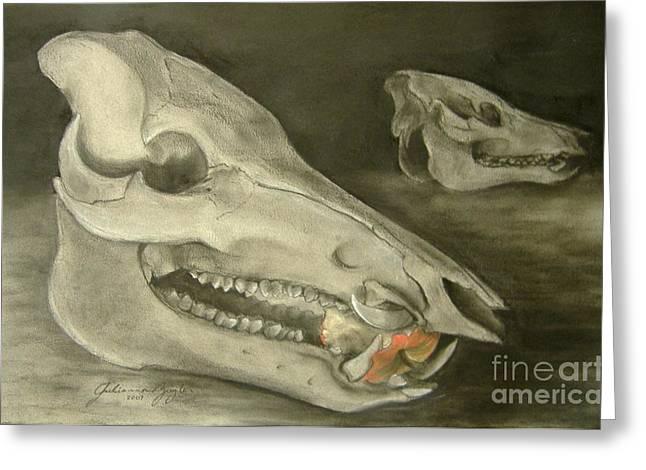 Bone Appetit Greeting Card by Julianna Ziegler