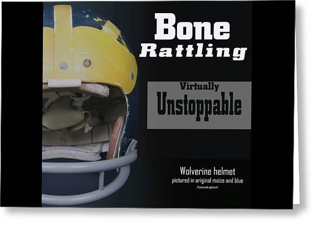 Bone Rattling Virtually Unstoppable Greeting Card