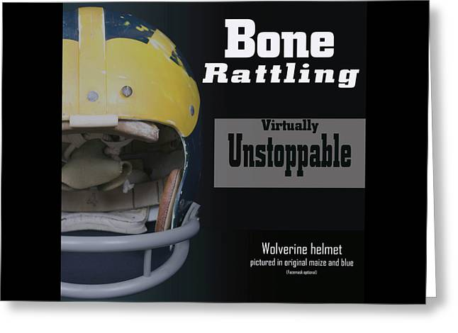 Bone Rattling Virtually Unstoppable Greeting Card