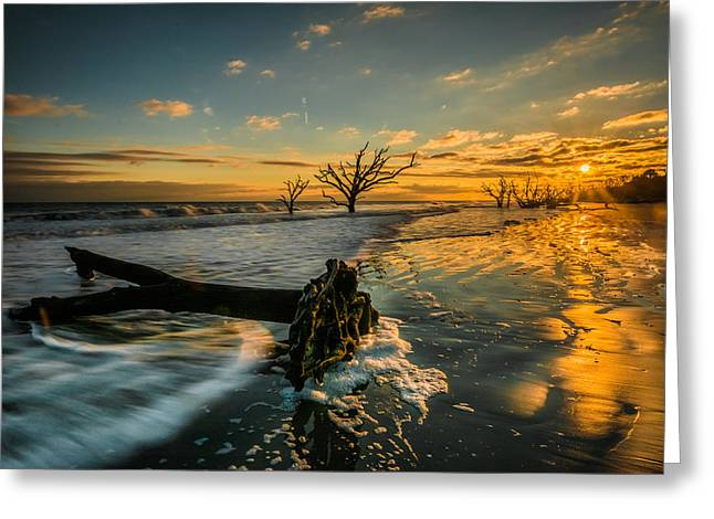 Boneyard Sunset Greeting Card