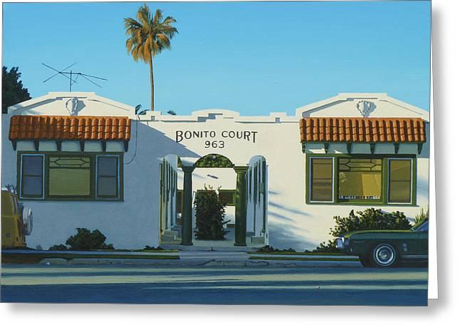 Bonito Court Greeting Card by Michael Ward