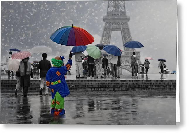 Bonjour Paris Greeting Card by Joachim G Pinkawa