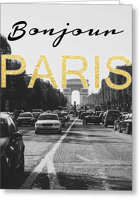 Bonjour Paris Greeting Card