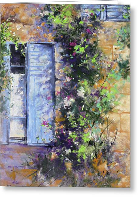 Bonjour Greeting Card by Rae Andrews