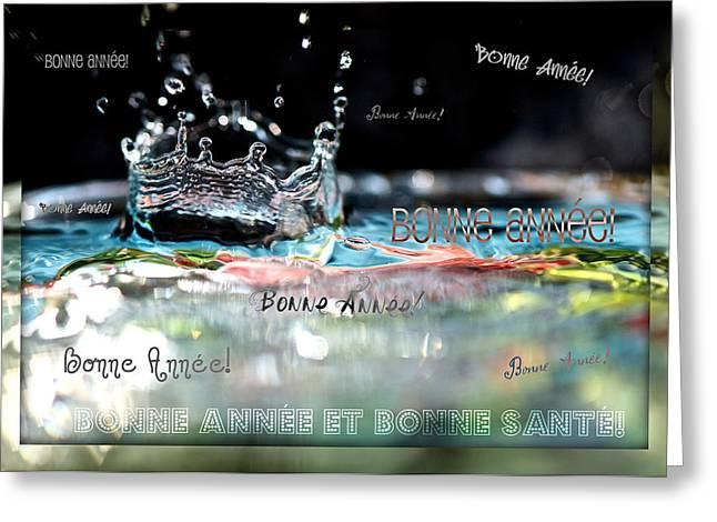 Bonne Annee Card Greeting Card by Lisa Knechtel