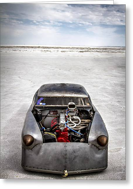 Bonneville Speed Week Images Greeting Card by Holly Martin