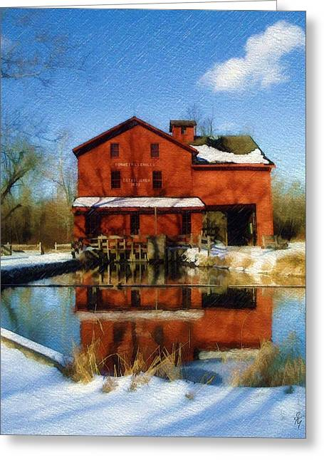 Bonneyville In Winter Greeting Card