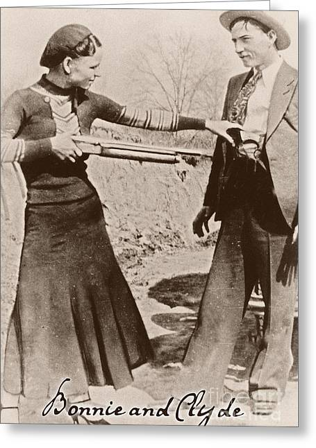 Bonnie And Clyde II Greeting Card by Mindy Sommers