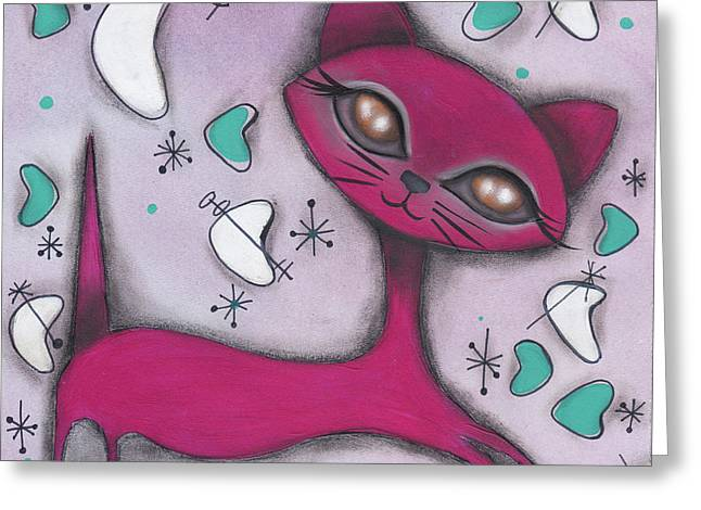 Bonnie Cat Greeting Card by Abril Andrade Griffith