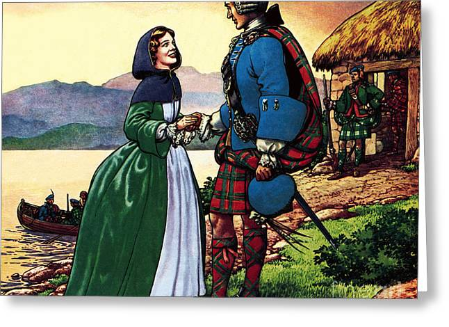 Bonnie Prince Charles And Flora Macdonald Greeting Card