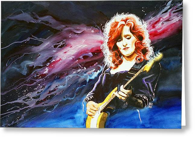 Bonnie Raitt Greeting Card by Ken Meyer jr