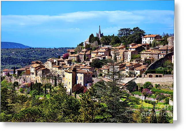 Bonnieux Greeting Card by Olivier Le Queinec