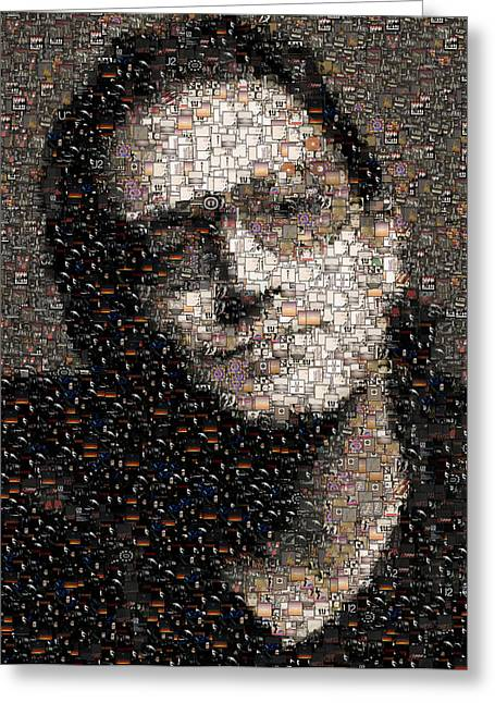 Bono U2 Albums Mosaic Greeting Card by Paul Van Scott