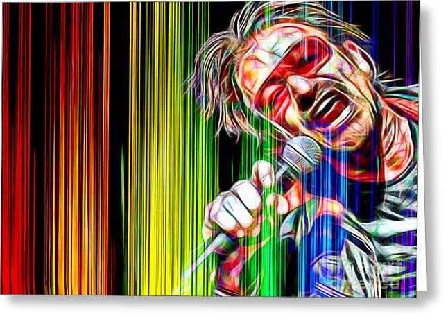 Bono Vox U2 In Color Greeting Card