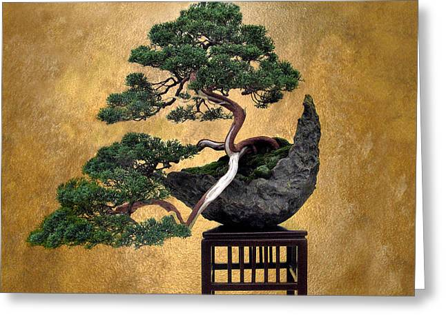 Bonsai 3 Greeting Card by Jessica Jenney