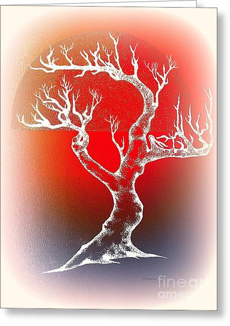 Bonsai Red Greeting Card