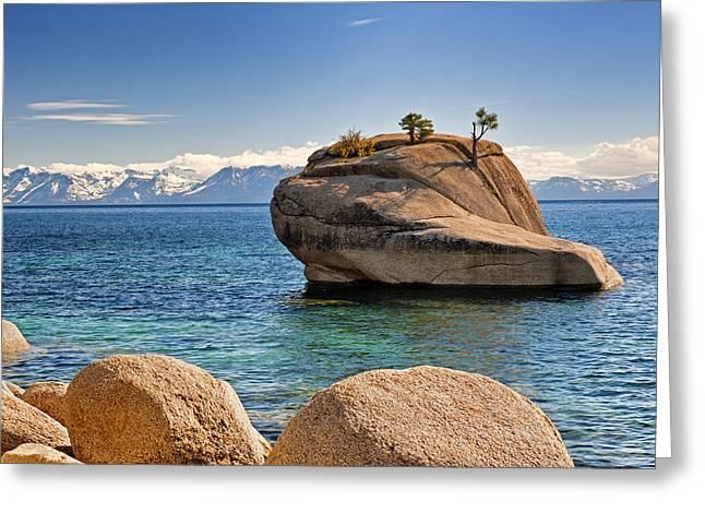 Bonsai Rock At Lake Tahoe Greeting Card