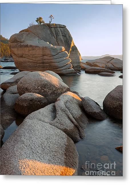 Lake Tahoe - Bonsai Rock Greeting Card