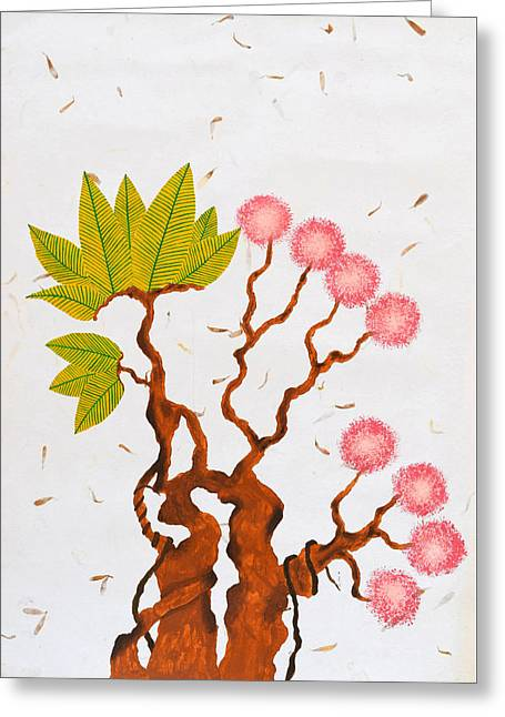 Bonsai Series No. 5 Greeting Card by Sumit Mehndiratta