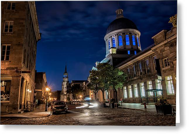 Bonsecours Market Greeting Card by James Wheeler